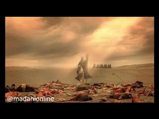 تصویر از سکانس شهادت حضرت علی اصغر (ع) و کشته شدن حرمله در فیلم مختارنامه